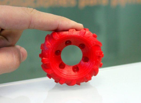 Flexiprint rueda roja domos3d